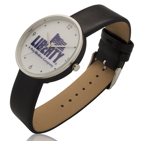 1.55 Inch Round Screen Watch with Genuine Leather Straps